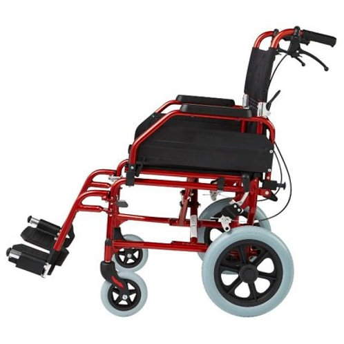 Omega TA1 Transit Wheelchair (Blue/Gold/Red)