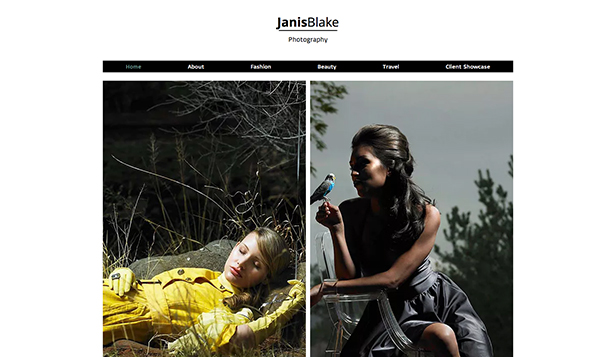 Commercial & Editorial website templates – Fashion Photographer