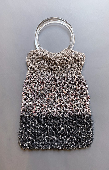 ギアリネンの変わりネット編みバッグ