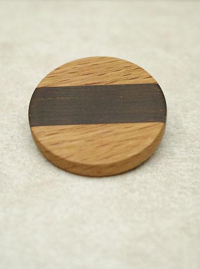 寄せ木ブローチ(b)
