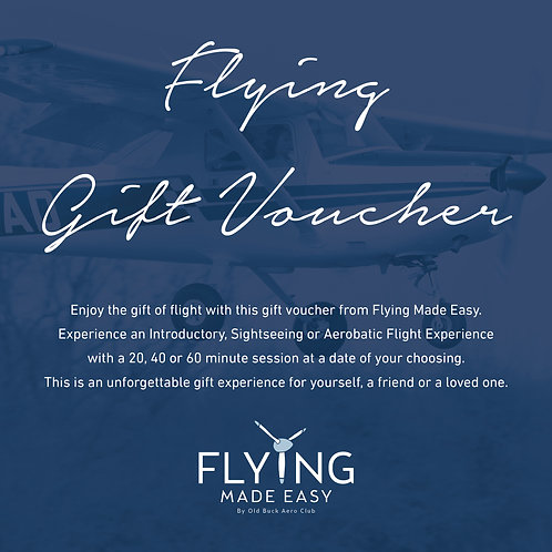 20 Minute Flying Gift Voucher -  Introductory / Sightseeing Session