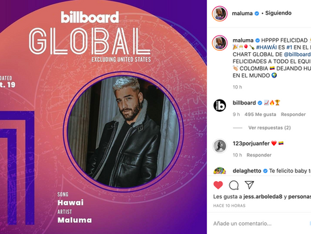 Charts: ¡POR FIN! Charts globales en Billboard.