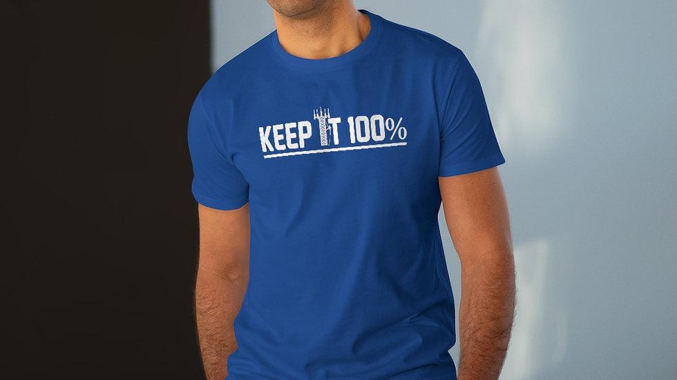 Keep It 100%–Men's Modern-fit Tee