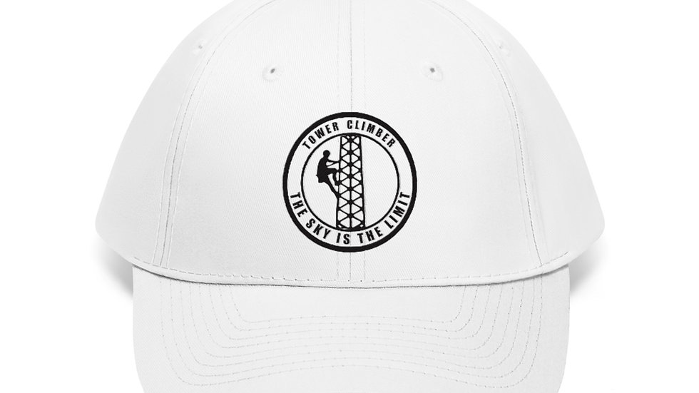 The Sky Is The Limit- 100% Cotton Twill Hat (Black Design)