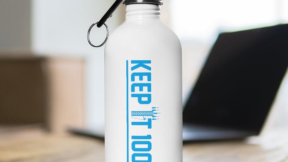 keep It 100%–Stainless Steel Water Bottle (Blue Design)