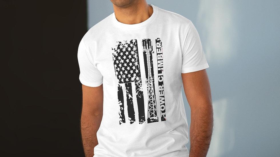 USA TOWER CLIMBER–Men's Modern-fit Tee (Black Design)
