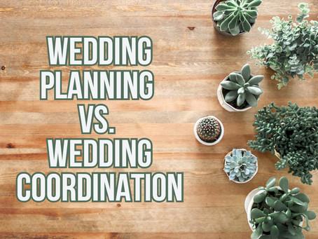 Wedding Services: Planning vs. Coordination