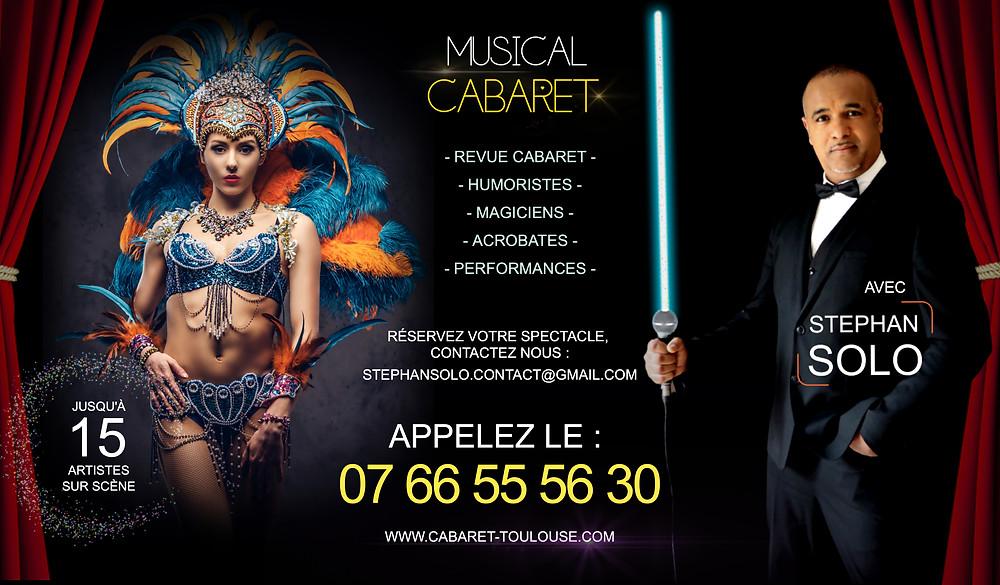 Spectacle cabaret à Toulouse, Montpellier, perpignan, Bordeaux, Albi, etc