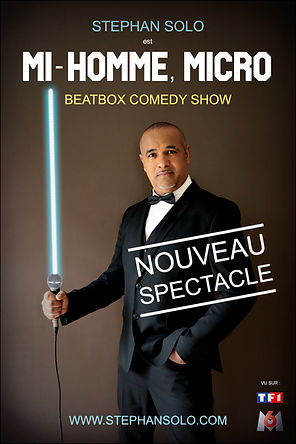 Stephan Solo - spectacle Mi-Homme, Micro