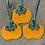 Thumbnail: Trio of Hanging Orange Pumpkins