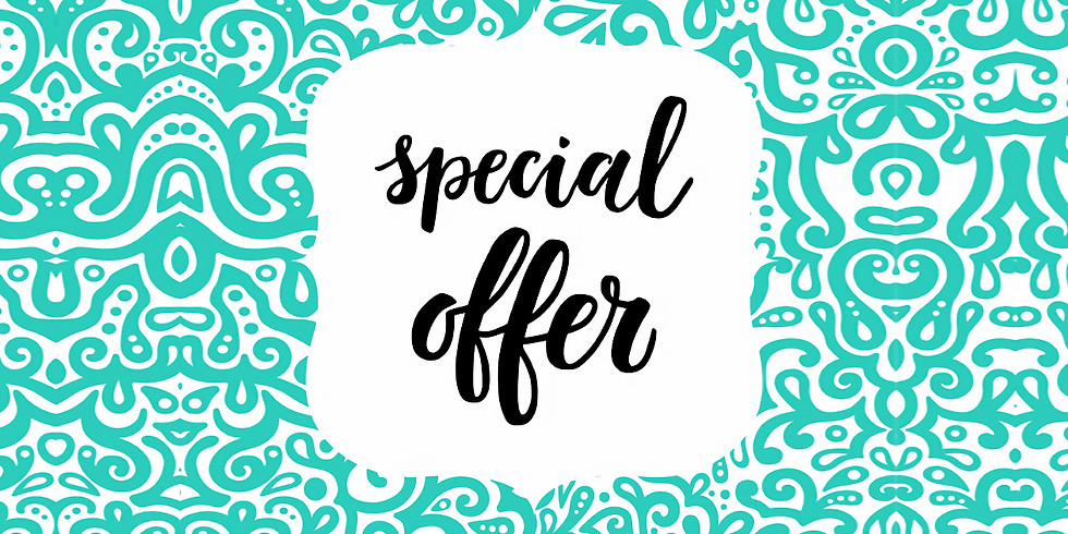 AUGUST BANK HOLIDAY WEEKEND - SPECIAL OFFERS