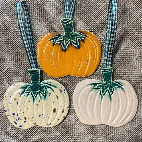Trio of Multi Hanging Pumpkins