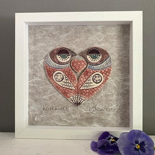 Small 'Lovebirds' Frame - Pink