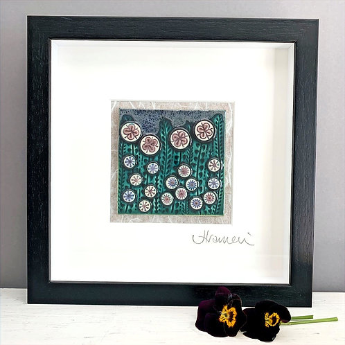 Small 'Floral' Tile Frame - dark