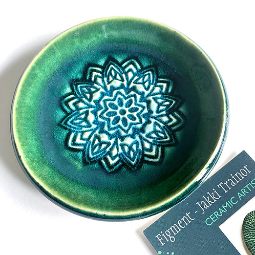 Green/turquoise dish