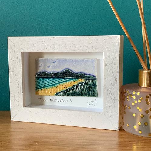 Mini 'Mourne Mountains' Frame - Blue/Yellow