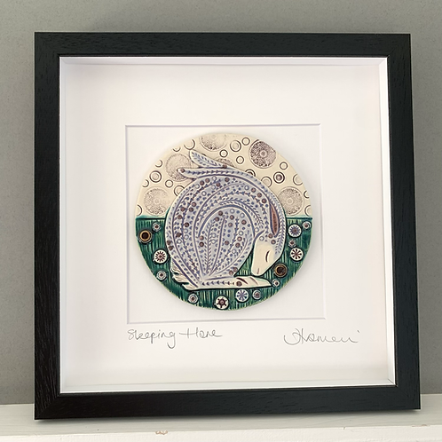 'Sleeping Hare' tile frame - medium