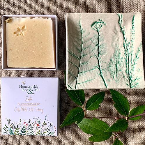 Leaf Soap Dish & Soap