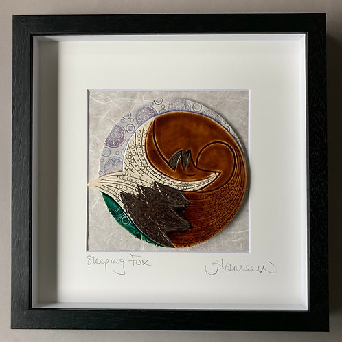 'Sleeping Fox' Tile frame - medium