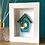 Thumbnail: Mini 'Birdhouse' Frame - Turquoise