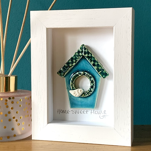 Mini 'Birdhouse' Frame - Turquoise