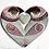 Thumbnail: Small 'Lovebirds' Frame - blue/pink