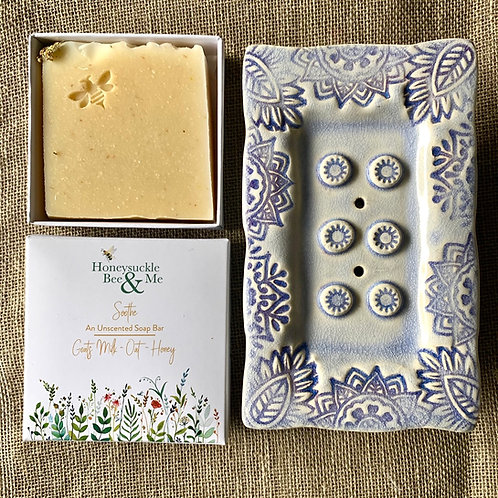 Lilac Soap Dish & Soap