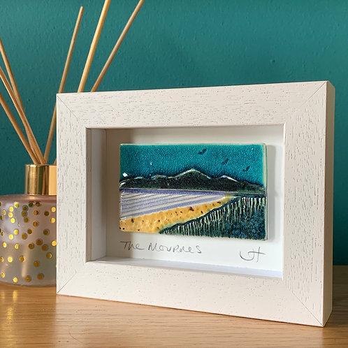 Mini 'Mourne Mountains' Frame - Turquoise