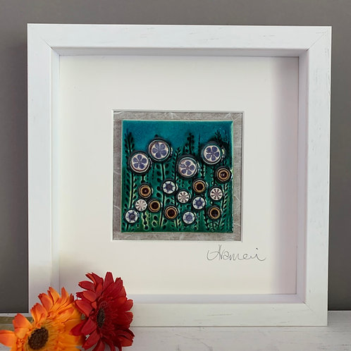 Small 'Floral' Tile Frame - bright