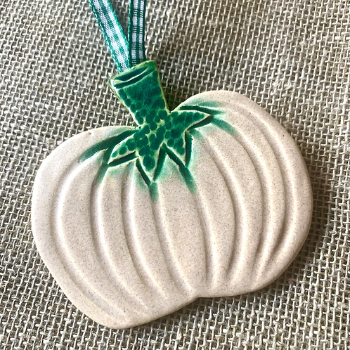 Cream Hanging Pumpkin