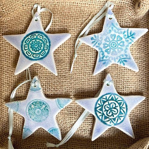 Star Decorations Set - pale
