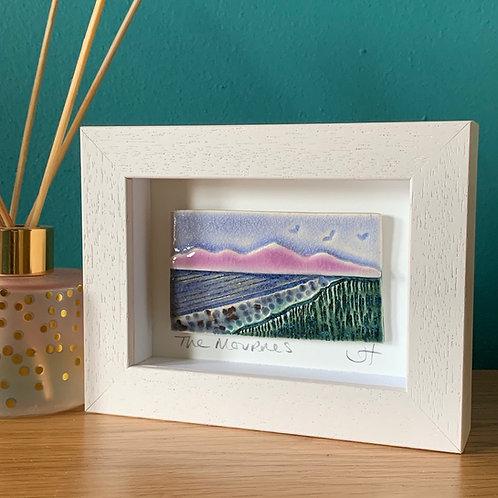 Mini 'Mourne Mountains' Frame - Lilac