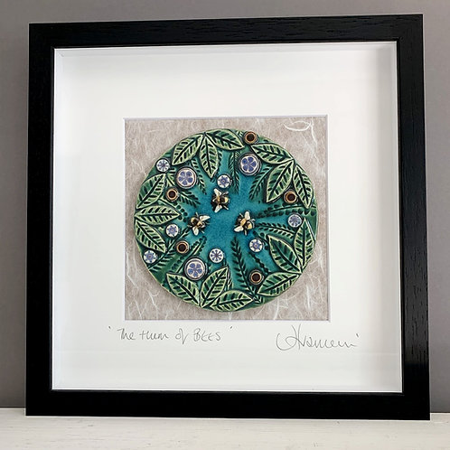 'The Hum of Bees' Tile Frame - Medium