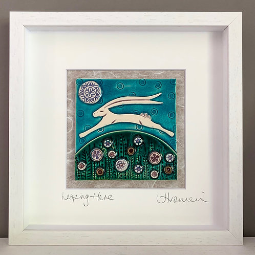 'Leaping Hare' Tile Frame - medium