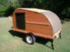 Cherry 5x8 Convertible Teardrop Trailer