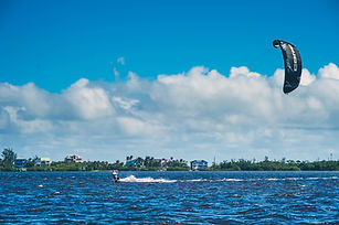 Learn to kiteboard on Jupiter Island, Florida with Next Level Watersports. Waist deep, Flat and shallow water!