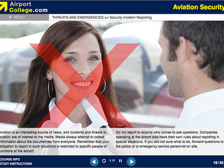 Aviation Security e-Learning training course