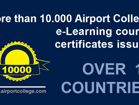 More than 10000 Airport College online e-Learning course certificates issued