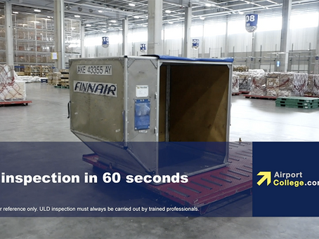 Free 60 Seconds Awareness Videos about safe ULD Inspection, Handling and Storage