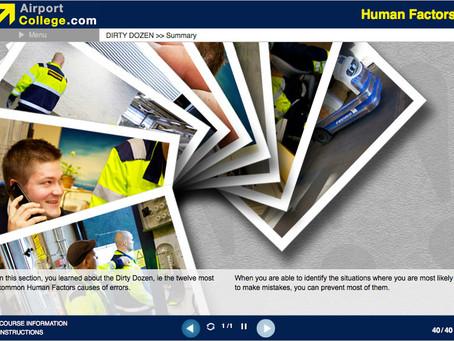 Human Factors e-Learning training course