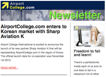 AirportCollege.com Newsletter