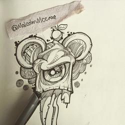 Instagram - Creating! #art #malcolm #malcolmmccrae #sketch #ink #drawing