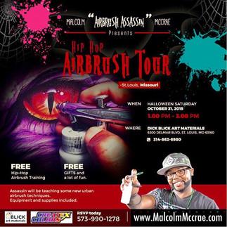 """Airbrush Assassin"" McCrae presents Hip Hop Airbrush Tour- St.Louis, Missouri"