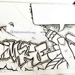 Instagram - #sketchaday #blackandwhite #fastsketch #artdaily #moreorless #linear