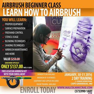 Airbrush Beginner Classes