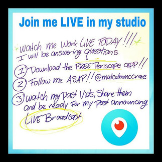Watch me Live on Periscope.