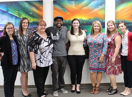 Malcolm creates art for Cape Girardeau Chamber Of Commerce