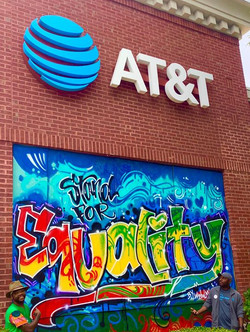 at&t equality mural