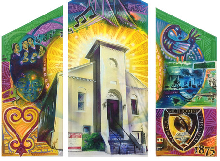 St. James AME Church Mural Unveiling