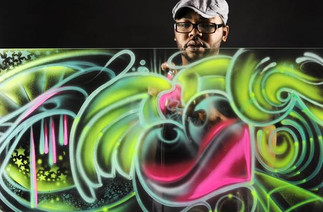 "Check out this article ""Airbrush artist brings urban influence to local art scene"""